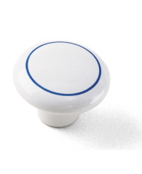 Porcelain Knob 1 1/2-Inch in Delft with Ring