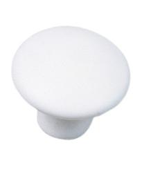 Ceramic Mesa Knob - White 1 3/8-Inch in Matte Finish