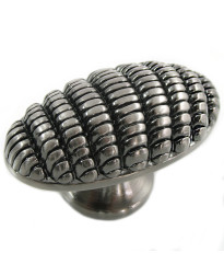 Honeycomb Egg Knob 1 7/8-Inch in Satin Nickel Antique
