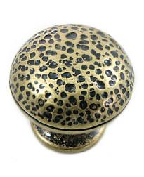 Hammer Round Knob 1 1/4-Inch in Distressed Brass