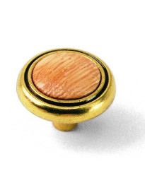 1 1/4-Inch First Family Knob-Oak-Light Brass