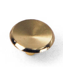 Modern Standards Knob 1 1/2-Inch in Polished Brass