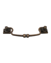 Rio Bail Pull, Weathered Brass, 5 1/16 inches (128mm) cc