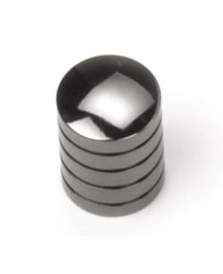 5/8-Inch Delano Cylinder Knob in Black Nickel