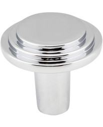 """Calloway 1 1/8"""" Diameter Stepped Rounded Cabinet Knob in Polished Chrome"""