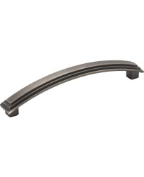 """Calloway 5 11/16"""" Overall Length Stepped Square Cabinet Pull in Brushed Pewter"""
