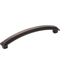 """Calloway 5 11/16"""" Overall Length Stepped Square Cabinet Pull in Brushed Oil Rubbed Bronze"""