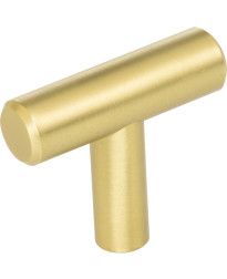 """Naples 1 9/16"""" Long """"T"""" Knob in Brushed Gold"""