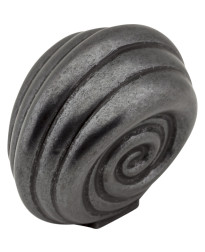 "Lille 1 3/8"" Palm Leaf Knob in Gun Metal"