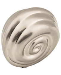 "Lille 1 1/8"" Palm Leaf Knob in Satin Nickel"