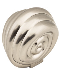 "Lille 1 3/8"" Palm Leaf Knob in Satin Nickel"