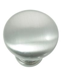 Hollow Steel Knob 1 3/8-Inch in Brushed Satin Nickel