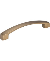 Merrick 128mm Centers Cabinet Pull in Satin Bronze