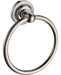Elysium Towel Ring in Satin Nickel