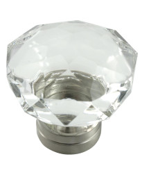 Kristal 55mm Knob in Satin Nickel