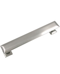 Poise 5-Inch Center to Center Pull with Back Plate in Satin Nickel