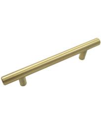 "Steel T-Bar Pull - 4"" c/c - Satin Brass"