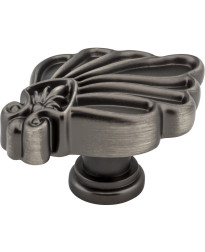 "Montclair 1 3/4"" Botanical Knob in Brushed Pewter"