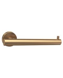 Arrondi Single Post Tissue Roll Holder in Brushed Bronze/Golden Champagne