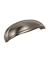 Ashby 4 in (102 mm) & 3 in (76 mm) Center-to-Center Gunmetal Cabinet Cup Pull