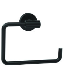 Arrondi 6-7/16 in (164 mm) Length Towel Ring in Matte Black
