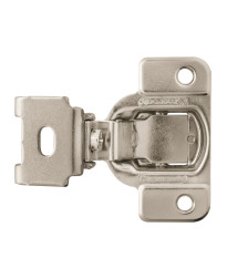 1-1/4 in (32 mm) Overlay Matrix Concealed Nickel Hinge - 2 Pack