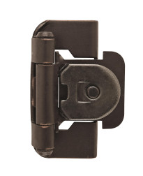 1/2in (13 mm) Overlay Single Demountable, Partial Wrap Oil-Rubbed Bronze Hinge - 2 Pack