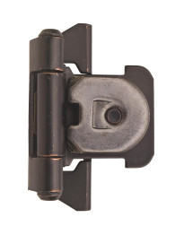 1/4 in (6 mm) Overlay Double Demountable Oil-Rubbed Bronze Hinge - 2 Pack