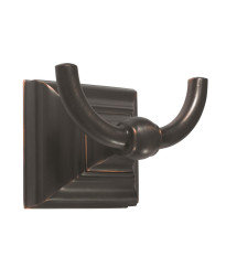 Markham Double Prong Robe Hook in Oil-Rubbed Bronze