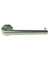 Arrondi Single Post Tissue Roll Holder in Polished Stainless Steel