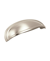 Ashby 4 in (102 mm) & 3 in (76 mm) Center-to-Center Satin Nickel Cabinet Cup Pull