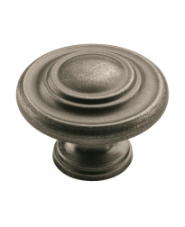 Inspirations 1-3/4 in (44 mm) Diameter Weathered Nickel Cabinet Knob