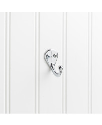 "1 3/4"" Single Wall Mount Coat Hook In Polished Chrome"