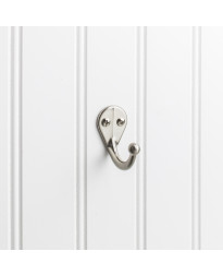 "1 3/4"" Single Wall Mount Coat Hook In Satin Nickel"