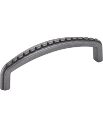 """Cypress 3 3/4"""" Centers Pull with Rope Detail in Gun Metal"""