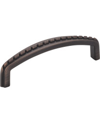 """Cypress 3 3/4"""" Centers Pull with Rope Detail in Brushed Oil Rubbed Bronze"""