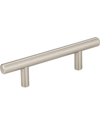"""Naples 3"""" Centers Steel Bar Pull with Beveled Ends in Satin Nickel"""