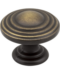 "Bremen 1 1/4"" Diameter Ring Knob in Antique Brushed Satin Brass"