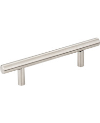 """Naples 3 3/4"""" Centers Stainless Steel Hollow Bar Pull with Beveled Ends in Stainless Steel"""