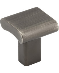 """Park 1"""" Square Knob in Brushed Pewter"""
