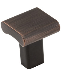 """Park 1"""" Square Knob in Brushed Oil Rubbed Bronze"""