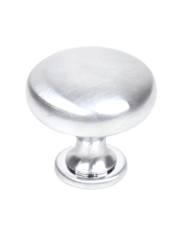 "Lisbon 1-3/16"" Diameter Knob, Satin Chrome"
