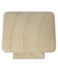 1 1/2-Inch Au Natural Wood Square Knob