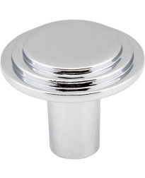 """Calloway 1 1/4"""" Diameter Stepped Rounded Cabinet Knob in Polished Chrome"""