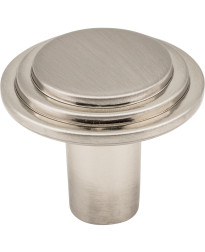 """Calloway 1 1/4"""" Diameter Stepped Rounded Cabinet Knob in Satin Nickel"""
