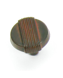 Wired Knob 1 1/4-Inch in Iron Black w/ Terra Cotta Wash