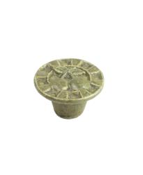 Alps Ceramic Knob, Olive Green, 1 1/2 inch dia