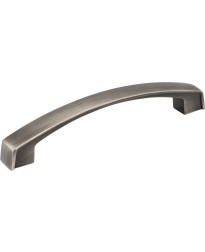 Merrick 128mm Centers Cabinet Pull in Brushed Pewter