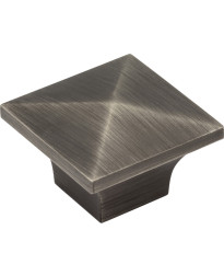 """Cairo 1-1/4"""" Cabinet Knob in Brushed Pewter"""