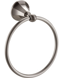 Heaven Towel Ring in Satin Nickel